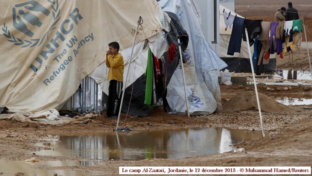 Dans le camp Al-Zaatari le 12 décembre 2013 - Muhammad Hamed