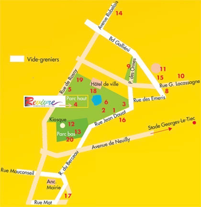 Plan du Stand de Revivre - Fête de la Madelon