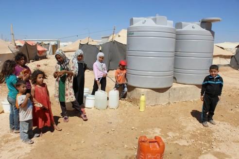 les réfugiés syriens manquent d'eau - Jordanie