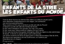 Samedi 15 novembre: une journée de solidarité avec le peuple syrien