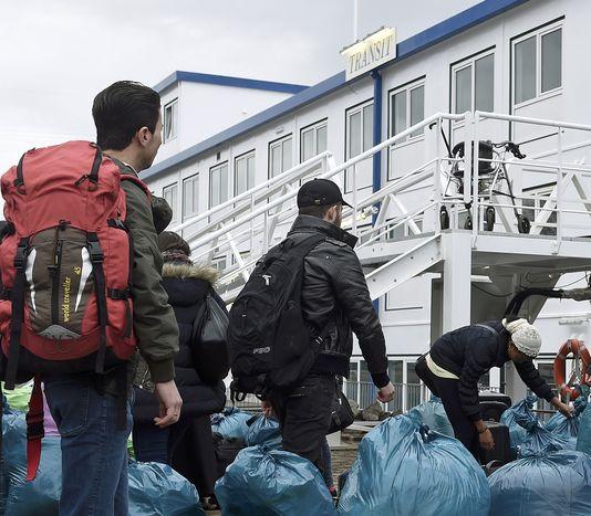 Une famille syrienne en quête d'asile