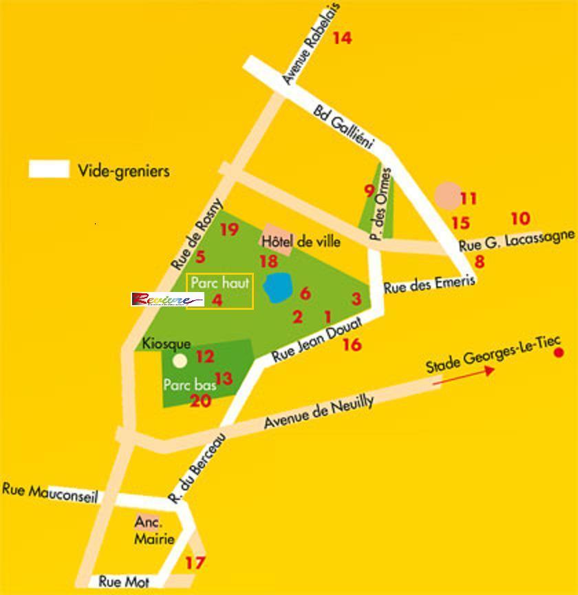 Plan du parc de l Hôtel de Ville- Stand Revivre dans n° 4