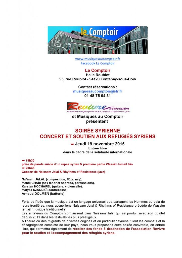 Concert 19 novembre 2015