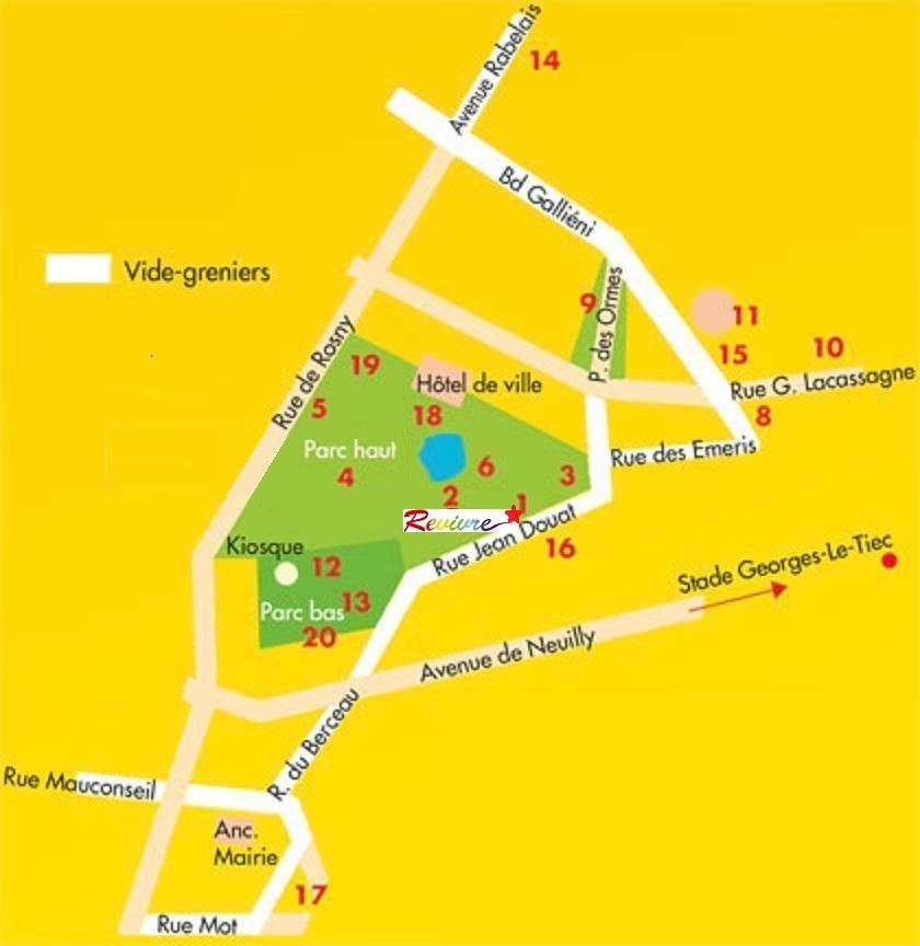 Le plan stand Revivre - parc de l'Hôtel de Ville