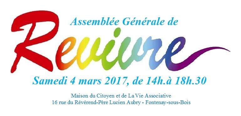 Assemblée Général 2017 & Log revivre