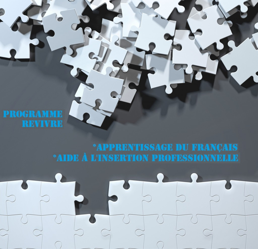 Partially assembled puzzle with white jigsaw pieces, while others are still messy and unordered. One side of the image shows part of a completed puzzle, while the other shows the work in progress on a dark gray background. Finding a solution to a problem and choosing the right strategy to solve disorganization to complete a project by putting together the puzzle. Digital generated image, view from top.