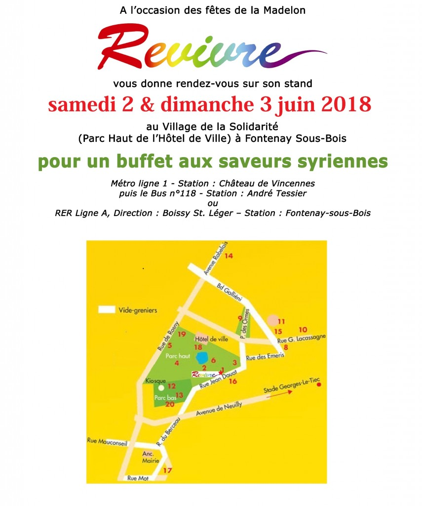 Revivre à La Madelon 2 & 3 juin 2018