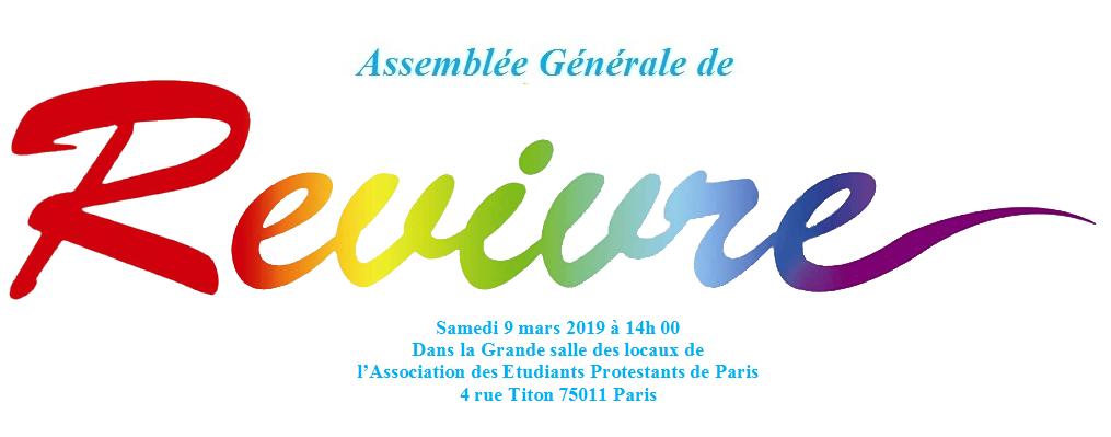 Assemblé Générale Revivre 2019